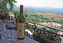 The view at Assisi a popular European tour destination