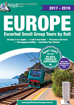 Great Trains of Europe Tours' tour booklet