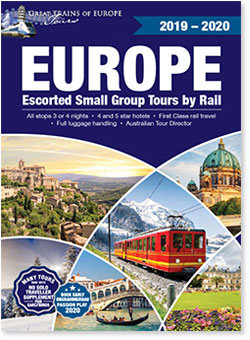 Great Trains of Europe Tours' 2019-2020tour booklet