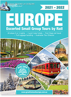 Great Trains of Europe Tours' 2021-2022tour booklet
