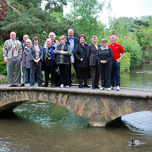 Tour group enjoying Europe's Springtime Gardens Tour
