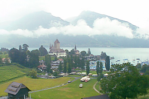 The lakeside village of Spiez