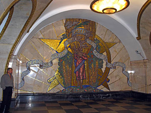 One of the wonders of the modern world - the Moscow Metro