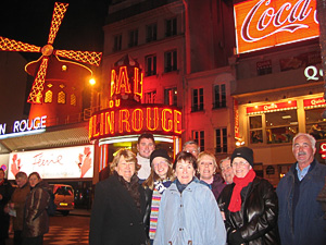 Tour members at the Moulin Rouge - home of the Can-can