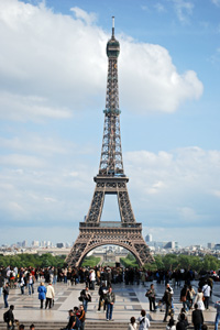 Eiffel tower, in the city of Paris