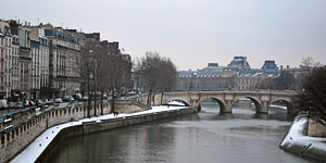 The charm of Paris in winter