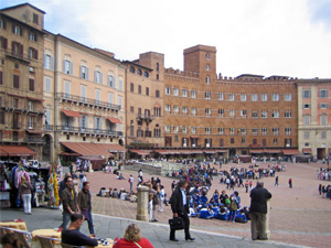The Town Square (Campo) in Siena