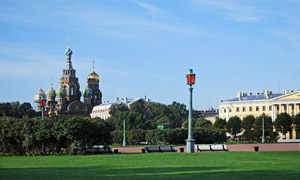 St Petersburg's unmistakable skyline