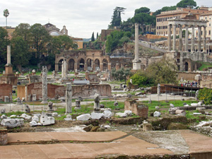 The classical Roman Forum in Rome