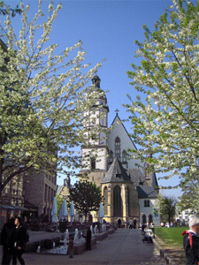 The Thomas Church in Leipzig. Bach was choirmaster here for twenty years